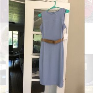 Calvin Klein Sleeveless belted dress - size 4 NWT